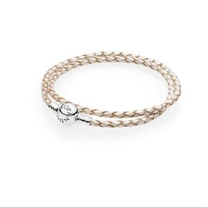 Pandora braided leather wrap bracelet